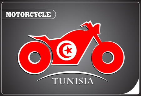 motorcycle logo made from the flag of Tunisia