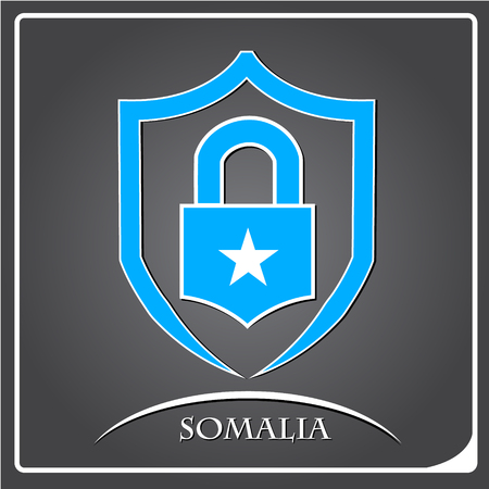 lock logo made from the flag of Somalia