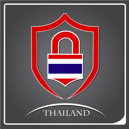 lock logo made from the flag of Thailand