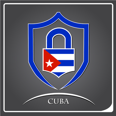 lock logo made from the flag of Cuba