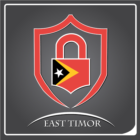 lock logo made from the flag of East Timor