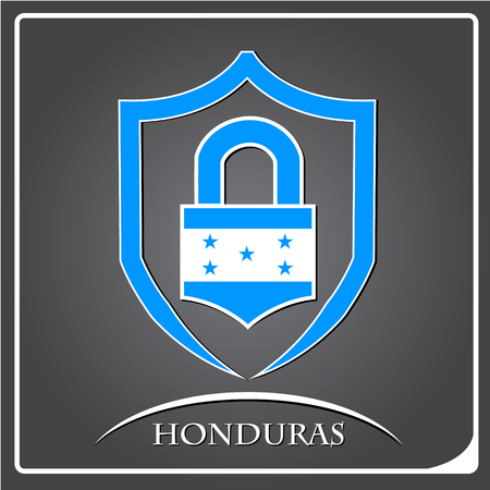 lock logo made from the flag of Honduras