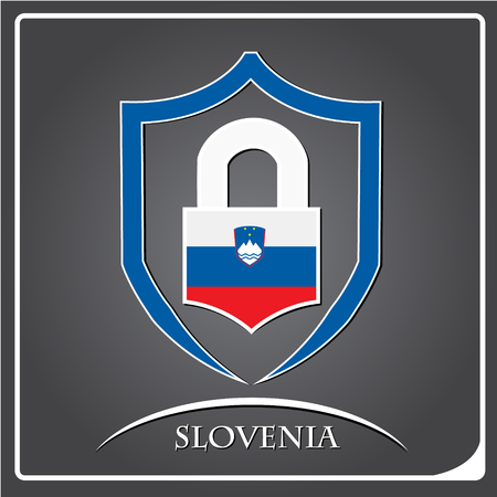 lock logo made from the flag of Slovenia