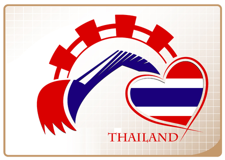 Backhoe design made from the flag of Thailand