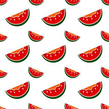 Seamless pattern with watermelon. Vector texture illustration.
