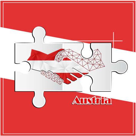 Handshake made from the flag of Angola Vektoros illusztráció