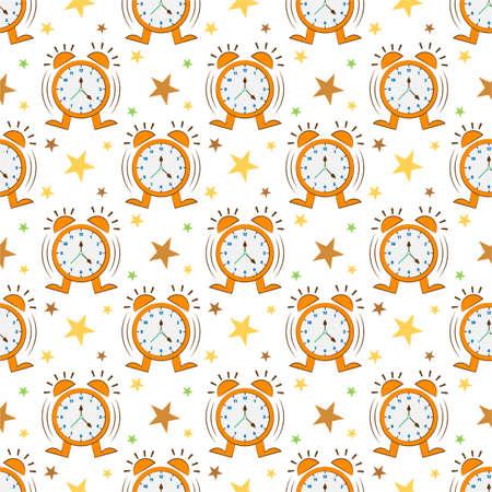 Colourful clock pattern