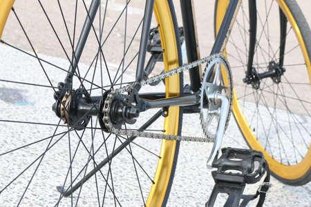 Closeup of bicycle Stock Photo
