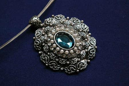 Closeup of a vintage pendant