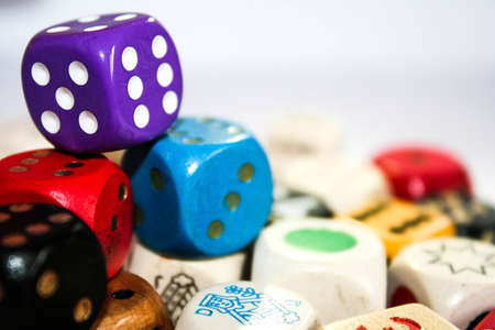 Coloful dice Stock Photo
