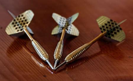 Closeup of dart