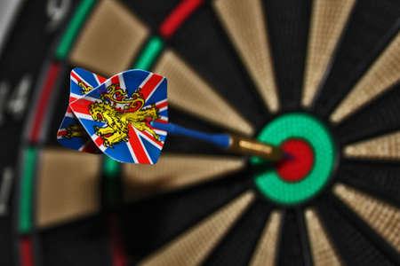 Closeup of a dart