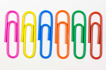 Closeup of colorful clips