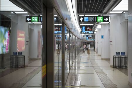The waiting platform of the last subway in Tianjin