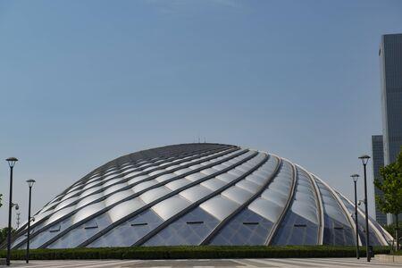 Tianjin Binhai High Speed Railway Station hemispherical building exterior