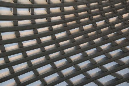 Tianjin Binhai High Speed Rail Station, light through the glass dome