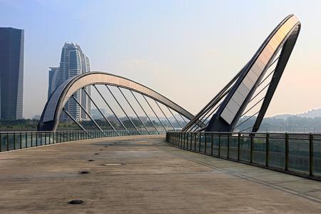 Lakeside bridge at Taman Seri Empangan Putrajaya, Malaysia
