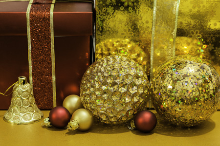 christmas ornamentation: Christmas ornaments Stock Photo