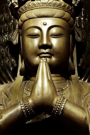 mercy: Golden statue of Guan Yin