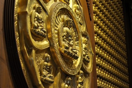 sacrosanct: The number of Buddha golden statues