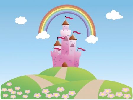 Fairy Tale Castle and Rainbow