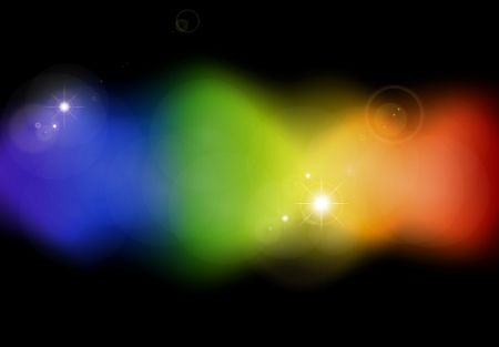 flair: spectrum flow on black background Stock Photo