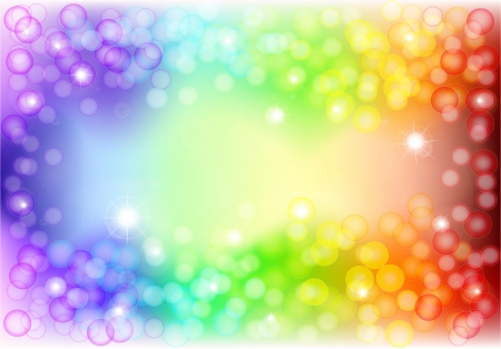 flair: spectrum background with bokeh