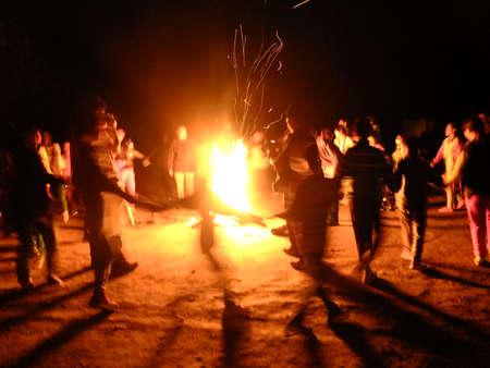Campfire Banque d'images