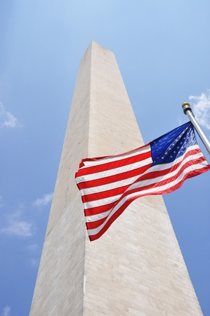 Washington Monument in the center of Washington DC, USA photo