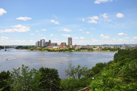 Gatineau Skyline, Canadian Museum of Civilization, viewed from Ottawa, Quebec, Canada photo