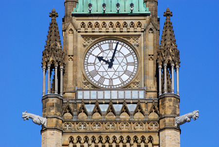 neogothic: Peace Tower (officially: the Tower of Victory and Peace) of Parliament Buildings, Ottawa, Ontario, Canada