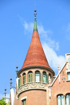 josep: Casa Terrades (Casa de les Punxes) is an Modernism masterpiece by architect Josep Puig i Cadafalch at Eixample District in Barcelona, Catalonia, Spain