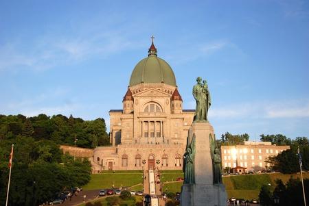 oratoria: Oratorio de San Jos� (en franc�s: Oratorio Saint-Joseph) en Montreal, Quebec, Canad� Foto de archivo