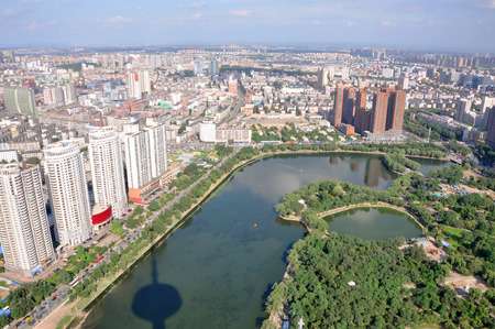 Shenyang City Skyline Aerial view, Liaoning Province, China photo