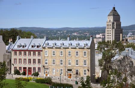 edifice: Old Quebec City house and Edifice Price Building, Quebec City, Quebec, Canada