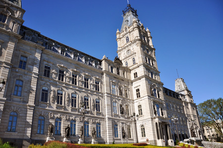 Quebec Parliament is a Second Empire architectural style building in Quebec City, Canada