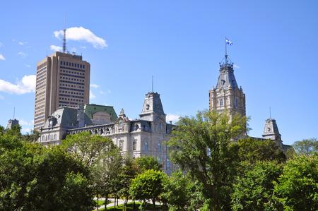 edifice: Quebec Parliament Building and Edifice Marie-Guyart in Quebec City, Canada