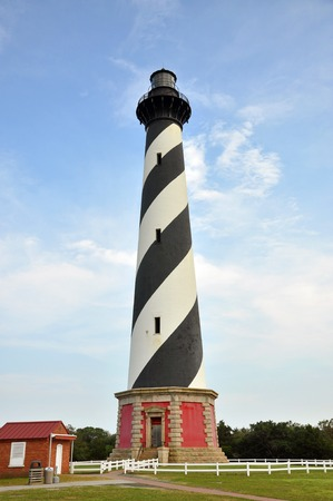 Cape Hatteras Lighthouse in Cape Hatteras National Seashore, on Hatteras Island, North Carolina, USA photo