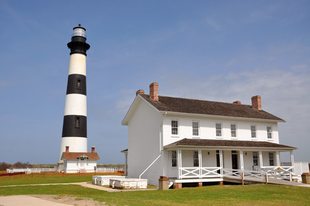 hatteras: Bodie Island Lighthouse in Cape Hatteras National Seashore, south of Nags Head, North Carolina, USA