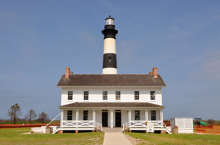 nags: Bodie Island Lighthouse in Cape Hatteras National Seashore, south of Nags Head, North Carolina, USA