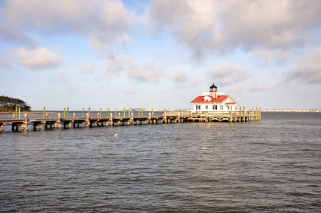Roanoke Marshes Lighthouse in Roanoke Island, Manteo, North Carolina, USA photo
