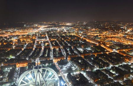 Back Bay at night in Boston, from top of Prudential Center, Boston, Massachusetts, USA photo
