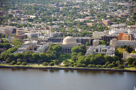 institute of technology: Massachusetts Institute of Technology (MIT) Aerial view, Cambridge, Massachusetts, USA Stock Photo