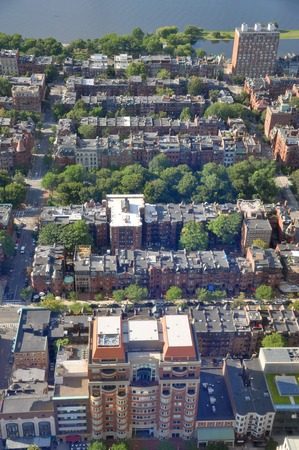 Back Bay apartment Aerial view in Boston, USA photo
