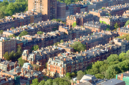 Aerial view of Back Bay apartment in Boston, USA photo