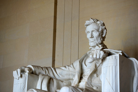 american city: Lincoln Statue in Lincoln Memorial, Washington DC, USA