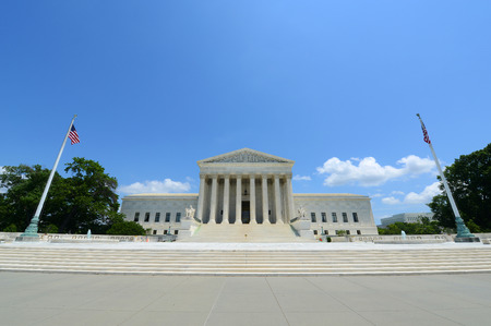 district of colombia: United States Supreme Court Building in Washington, District of Columbia, USA Archivio Fotografico