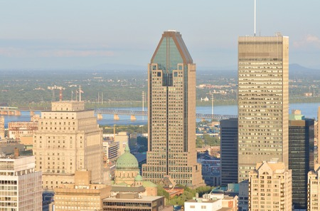 montreal city: Montreal city skyline in financial district, Montreal, Quebec, Canada