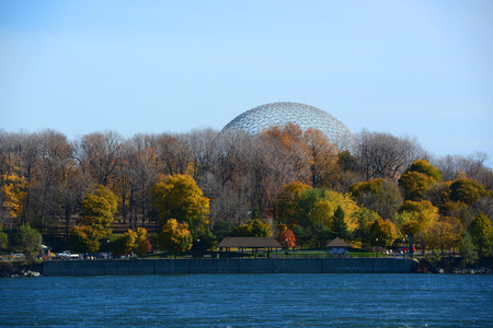 seaway: Montreal Biosphere was built for Expo 67 to display Canadian St. Lawrence Seaway river system on Saint Helens Island in Montreal, Quebec, Canada
