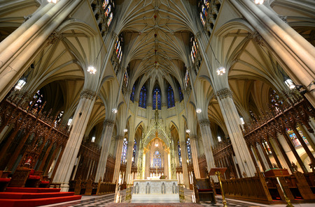 Baldachin and Altar of St. Patrick s Cathedral, Manhattan, New York City, USA